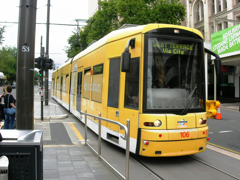 Gawler group arrive at Adelaide and transfer to tram ..... free travel for seniors