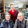 Here is the three of us Colleen and I with our grand daughter who is in the missionary work in the state of NSW Australia  , we are having lunch at West Wyalong  ....................... take a guess at the price of  pies !!
