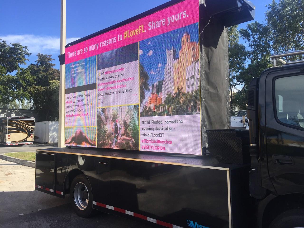 #LOVEFL Visit Florida Outdoor Mobile Screen Display sooh