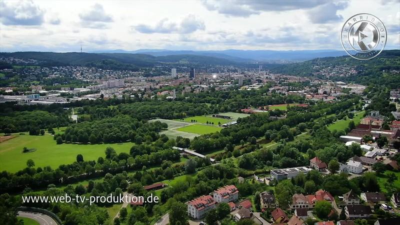 Lörrach von oben - Deutschland von oben - Rundflug über der Kreisstadt im Südwesten von Baden-Württemberg - Karrideo Image- und Eventfilmproduktion©®™