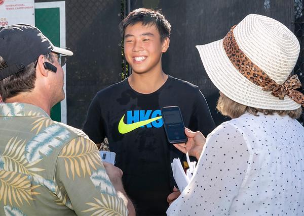 Chak Lam Coleman Wang, winner, 14u Division