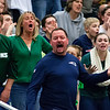 AUGUSTA, Maine -- 03/03/2017 -- Mount Desert Island fans yell after a call against them during their Class B boys basketball state championship against Wells at the Augusta Civic Center in Augusta Friday. Ashley L. Conti | BDN