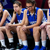BANGOR, Maine -- 02/23/2017 -- Easton sits dejected as time runs out during their Class D girls basketball semifinal game against Southern Arroostook at the Cross Insurance Center in Bangor Thursday. Ashley L. Conti | BDN