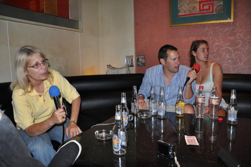 Diane, Matt, and Jessie singing.