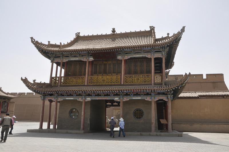 A pagoda-like building inside the complex.