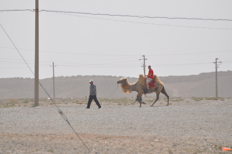 Matt and his trusty camel...and its guide.  I guess they didn't trust Matt and his camel-riding skills by himself...