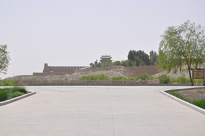 The first glimpse of the wall (reconstructed, I think) inside the park.