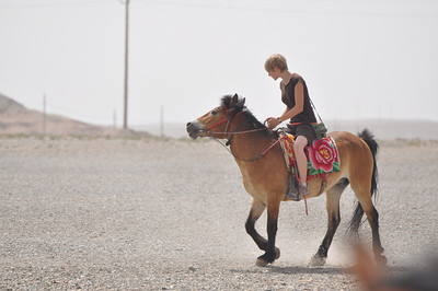 Brenna, ever the horsewoman, rented one of the horses and showed her stuff.