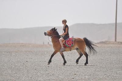 More Brenna on horseback.