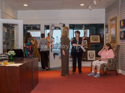 Getting ready for the reception at the Kirby Gallery, Roxboro, NC