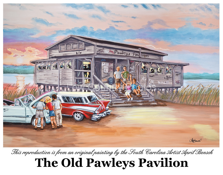 "Pawleys Island Pavilion<br /> I don't normally show another artists work, but I was so impressed with this artist I asked her if I could include it on my website. April Bensch is a friend and neighbor as well as a very talented artist. Anyone that has been around Pawleys Island, South Carolina for a while will instantly recognize the image above.<br /> I took the photo of the original oil painting and with the original artist's permission and am offering it for sale on my website.<br /> <br /> Artist - April Bensch<br /> Website: <a href=""http://aprilbensch.com"">http://aprilbensch.com</a><br /> E-Mail: aprilbensch@sc.rr.com<br /> Photography by Mike Covington - Low Country Photos"