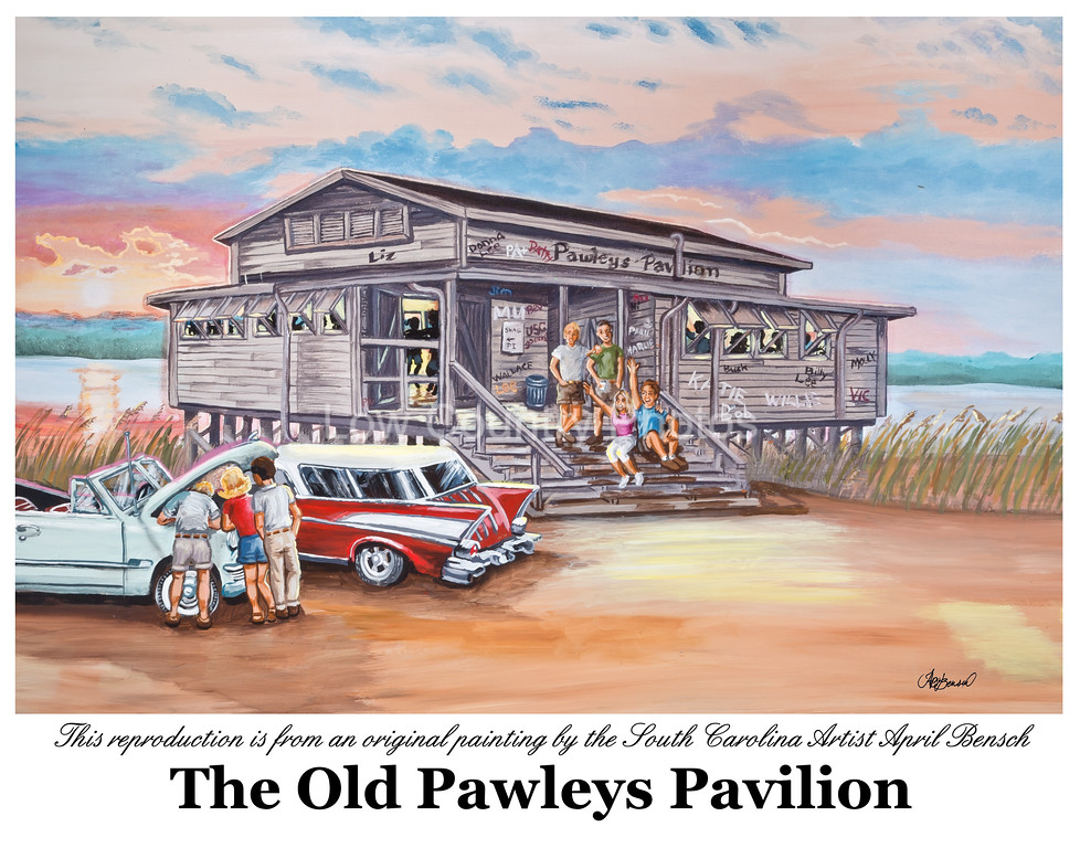 """Pawleys Island Pavilion<br /> I don't normally show another artists work, but I was so impressed with this artist I asked her if I could include it on my website. April Bensch is a friend and neighbor as well as a very talented artist. Anyone that has been around Pawleys Island, South Carolina for a while will instantly recognize the image above.<br /> I took the photo of the original oil painting and with the original artist's permission and am offering it for sale on my website.<br /> <br /> Artist - April Bensch<br /> Website: <a href=""""http://aprilbensch.com"""">http://aprilbensch.com</a><br /> E-Mail: aprilbensch@sc.rr.com<br /> Photography by Mike Covington - Low Country Photos"""