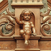 Cherub in the wood trim of the Black Point Estate mansion.