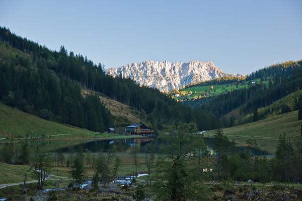 Steirischer Bodensee, dahinter Kammspitz