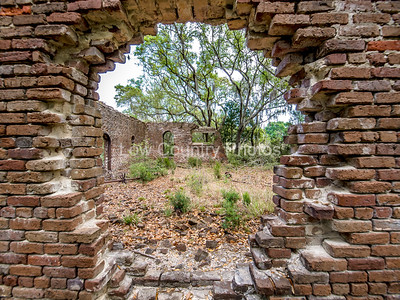 Ruins of an old mill on the Hobcaw Barony property, a 17500-acre wildlife refuge near Georgetown, SC