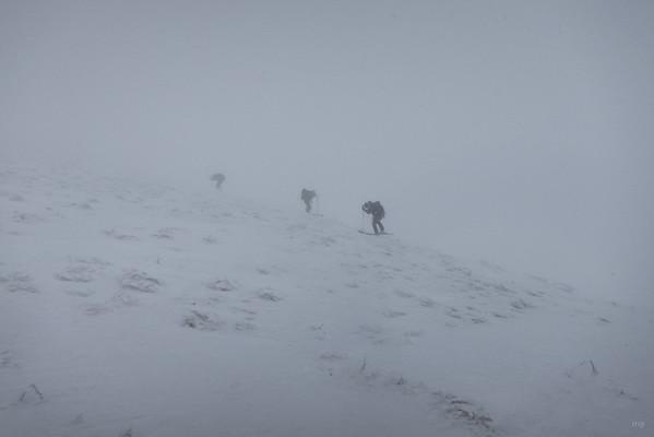 Etwa 50 hm vor dem Gipfel haben wir dann umgekehrt. Genuss sieht anders aus.