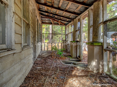Front Porch of Abandoned Home on Sandy Island