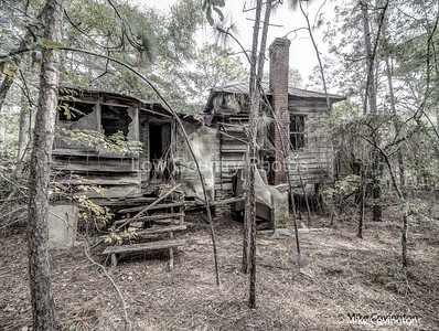 Back of Abandoned Home on Sandy Island