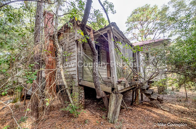 Side of Abandoned Home on Sandy Island
