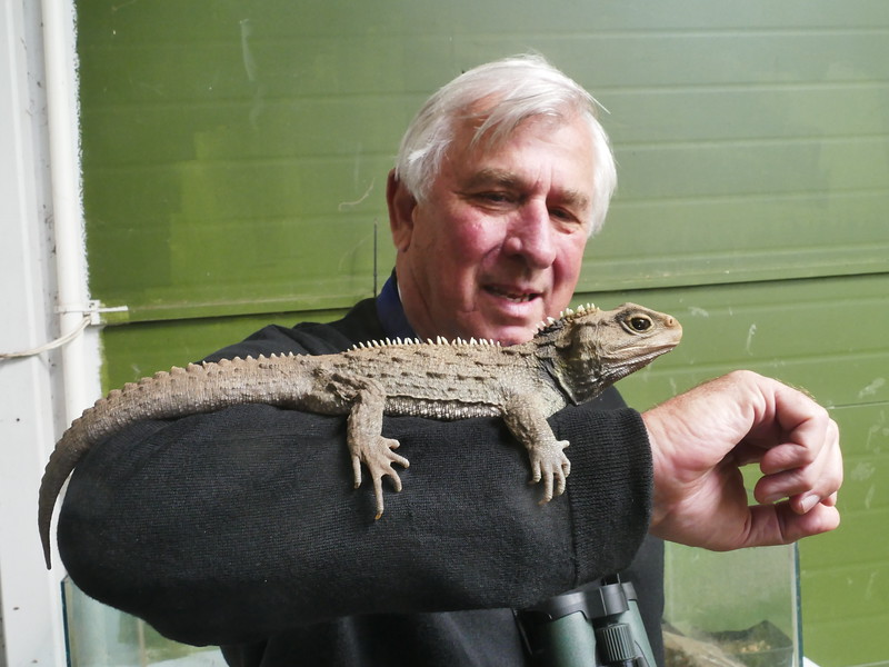 Dick gets up close and personal to his favourite New Zealander