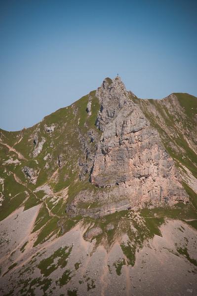 Roßkopf (bei näherem Betrachten sieht man einige Klettersteigler)