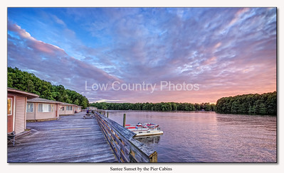 Santee Sunset by the pier cabins
