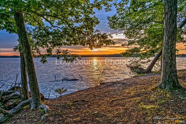 Sunrise across Lake Murray