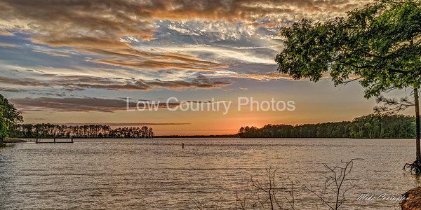 Sunset on Lake Murray at the park