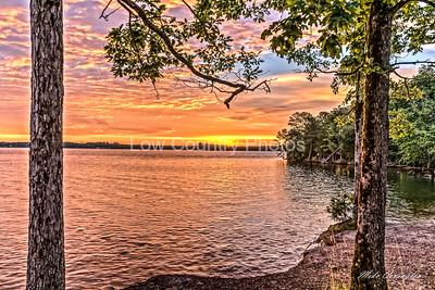 Sunrise on Lake Murray at Dreher Island State Park
