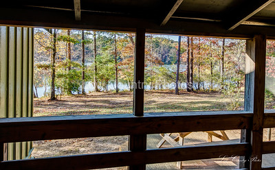 Cabin 14 view from the porch -  Oconee State Park