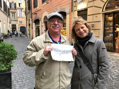 Alan with my local expert guide in Rome, Francesca