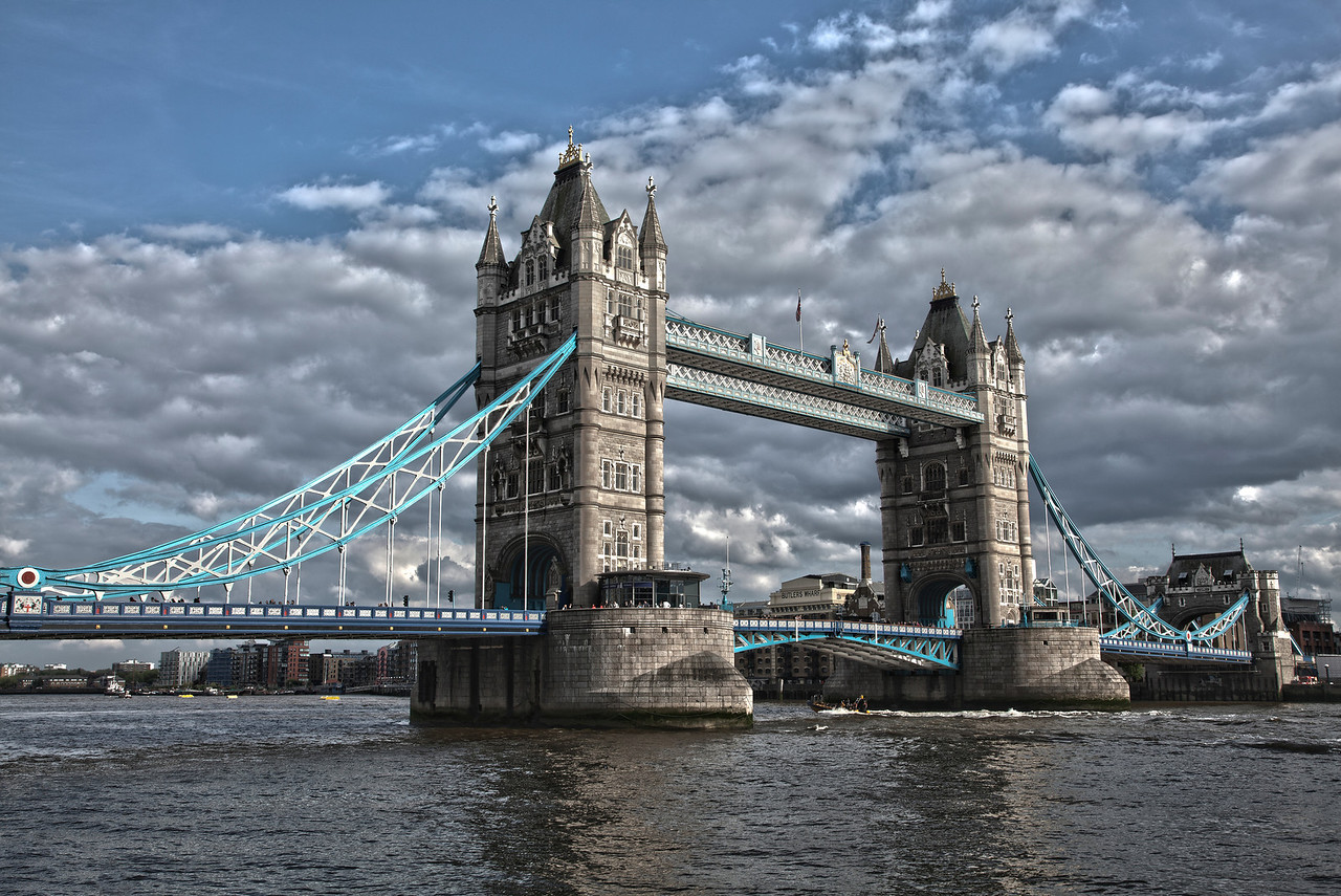 Tower Bridge In London, England