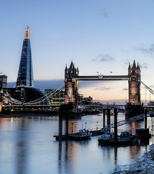 Tower Bridge and The Shard at Sunset