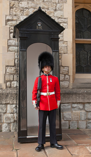 Welsh Guard on Sentry Duty at the Tower of London in London, England