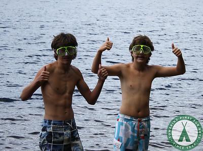 Skindivers Explore the Lake