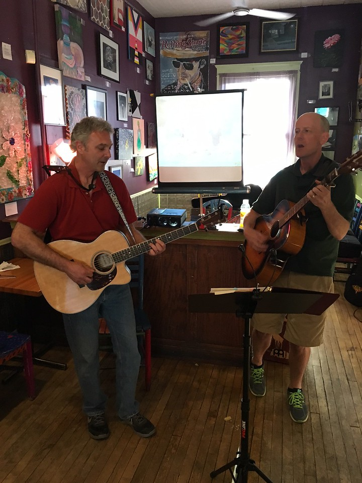 Jon and Jeff have been friends for over 20 years; raised their families together; and never miss any opprotunity to jam together.  You should see them play at camp!