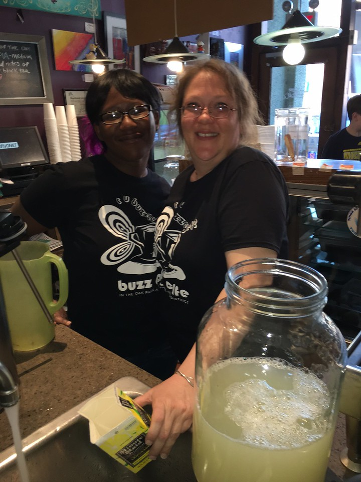 Thank you to all the Staff at the Buzz Cafe for making our event so special!  I wonder if they will start calling lemonade, bug juice??.....