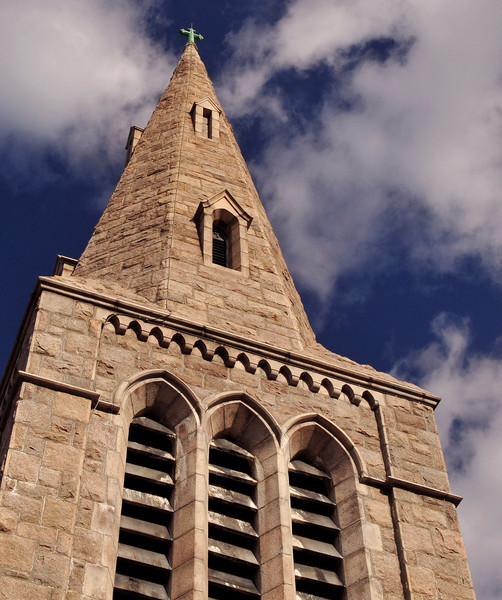 Stone Steeple<br /> St. Lukes Episcopol Church<br /> East Greenwich, RI