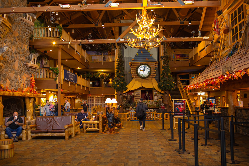 The Lobby of Great Wolf Lodge in Mason Ohio