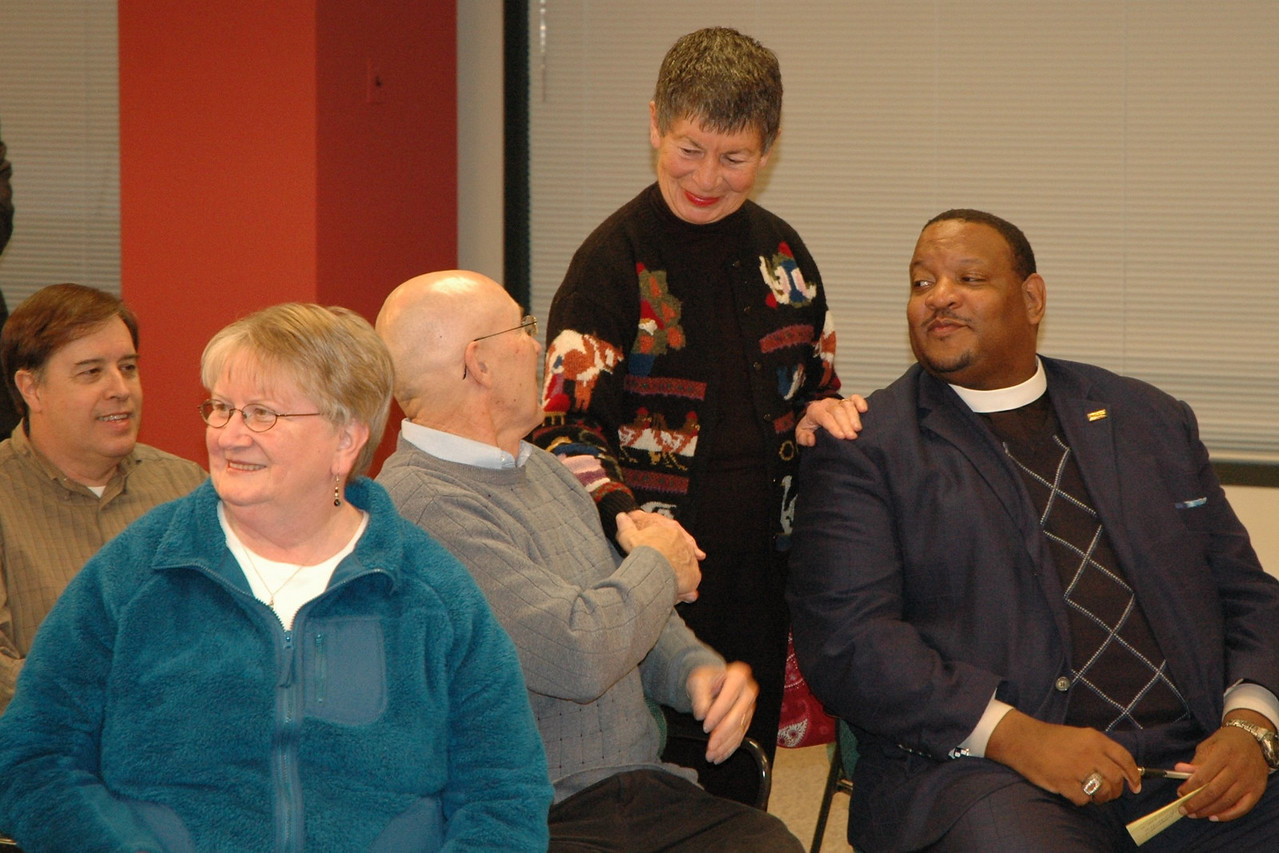 ELCA members meeting one another.