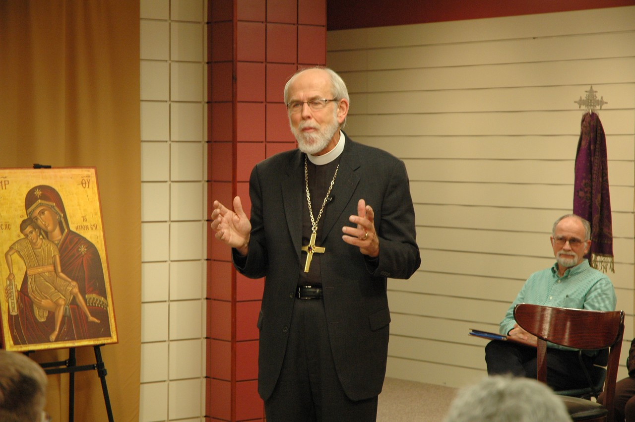 Bishop Hanson responds to the question.