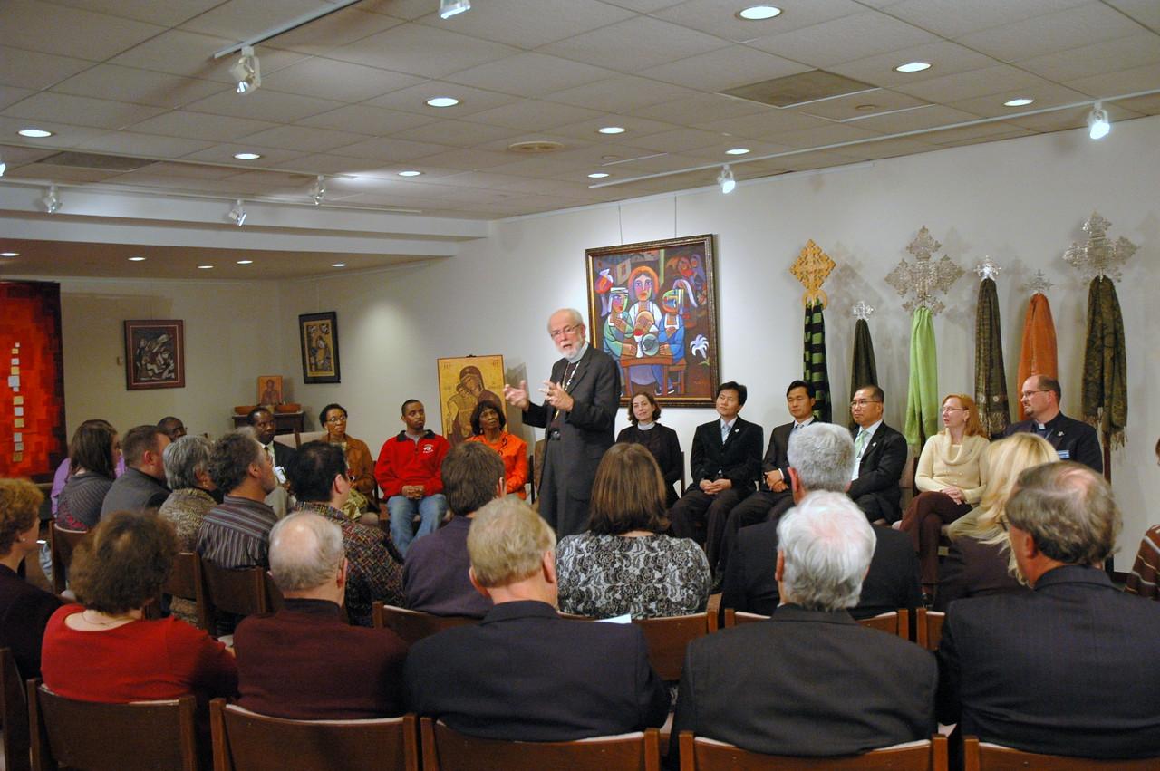 ELCA Presiding Bishop Mark S. Hanson during the November 21, 2010 Online Town Hall Forum.
