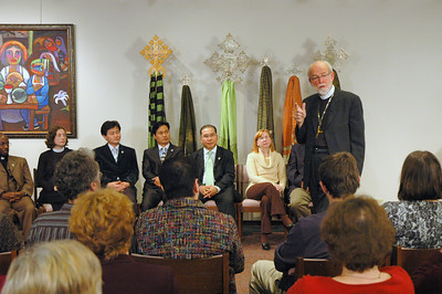 Scene from the November 21, 2010 Online Town Hall Forum with ELCA Presiding Bishop Mark S. Hanson.