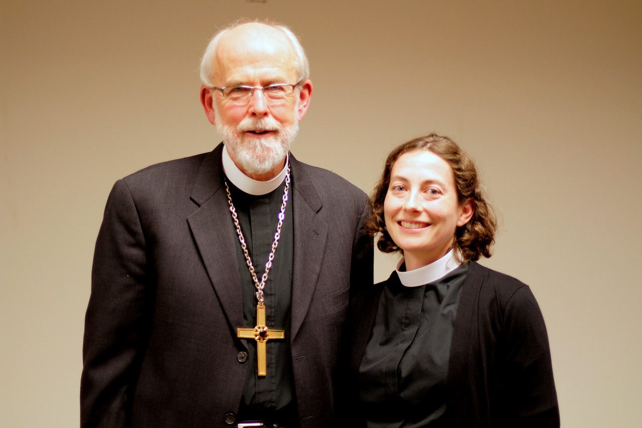 Elizabeth Palmer joined the studio audience at the November 21 Town Hall Forum with Bishop Hanson.