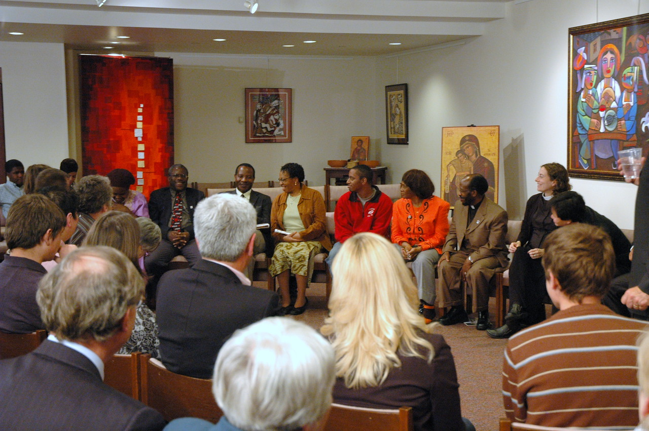 The Chicago Lutheran Center audience included vistors from Tanzania for the November 21, 2010 ELCA Online Town Hall Forum with Presiding Bishop Mark S. Hanson.