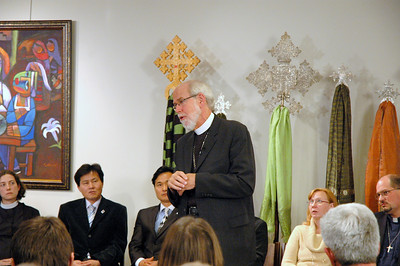 ELCA Presiding Bishop Mark S. Hanson responds to a question during the November 21, 2010 Online Town Hall Forum.