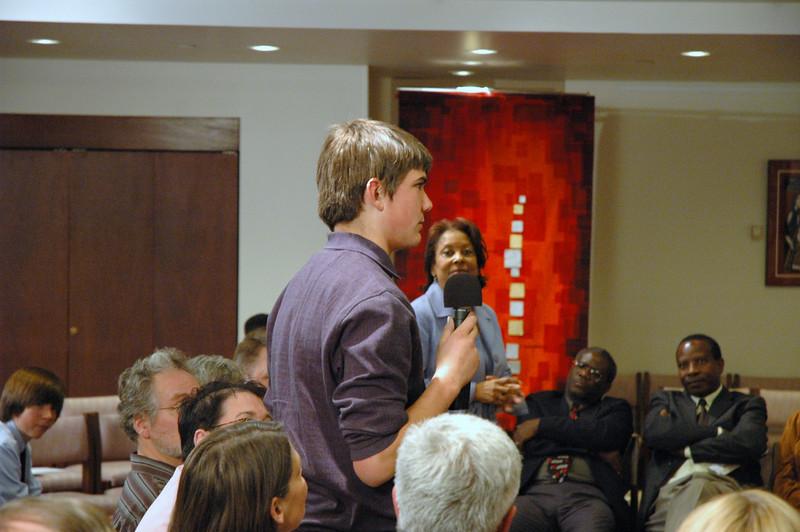 Drake Zuschlag asks ELCA Presiding Bishop Mark S. Hanson we why don't kids go to church after confirmation.  November 21, 2010 Online Town Hall Forum.