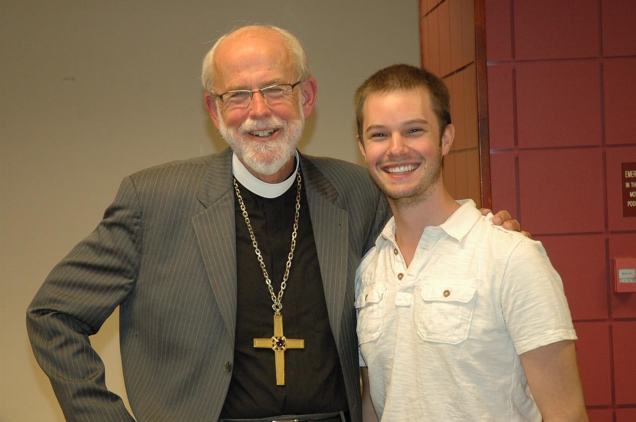 Presiding Bishop Mark S. Hanson with the Rev. Alex Raabe