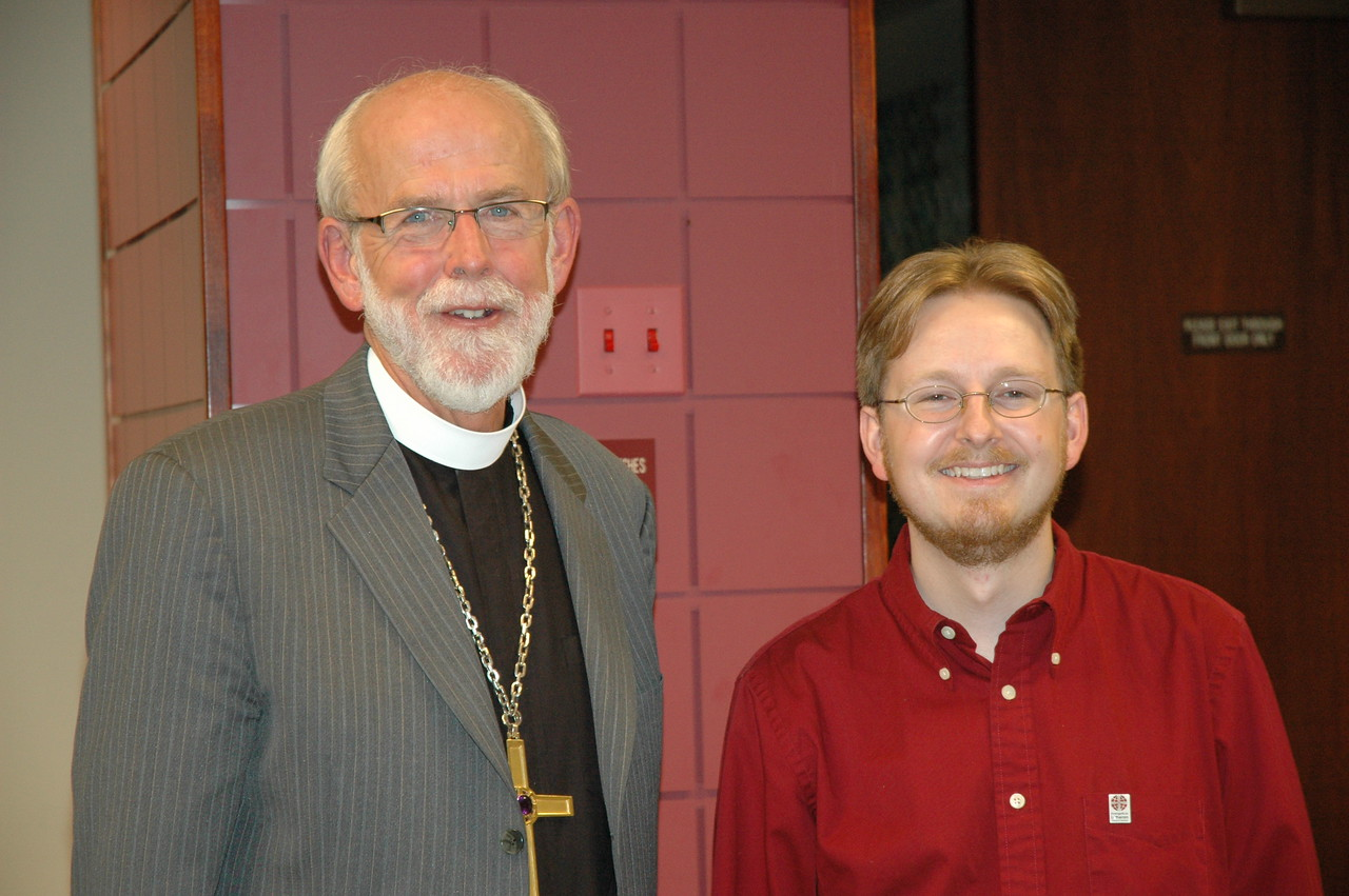 Presiding Bishop Mark S. Hanson with the Rev. Dirk van der Duim