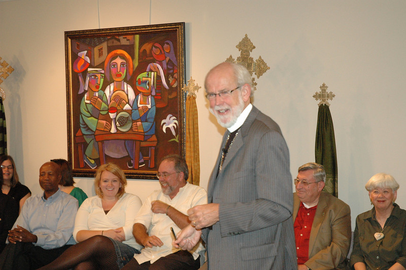 Presiding Bishop Mark S. Hanson engages ELCA members at the September 19, 2010, Town Hall Forum.